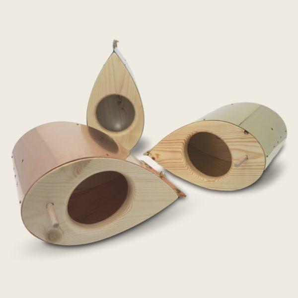 Mangeoires à oiseaux moderne en bois et métal - La Mangeoire