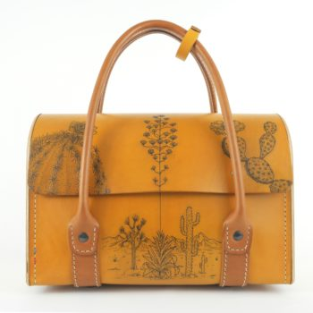 sac-bois-cuir-damien-beal-invite-main-tatouage-artisan-tatoueur-collaboration-creation-jaune et papaya 2