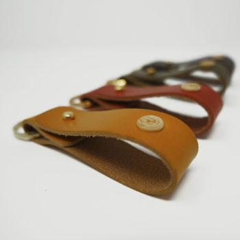Le Porte-clés, en cuir naturel et bois, Damien Béal