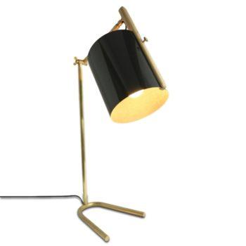 La Girafe, lampe à poser, lampe de bureau, en bois et laiton, Damien Béal