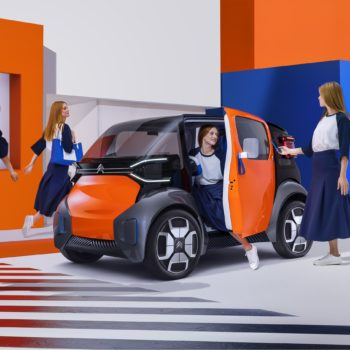 Sac à main, cabas en et bois, collaboration Citroën pour Ami One Concept