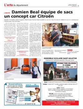 Article sur la collaboration avec Citroën pour Ami One Concept