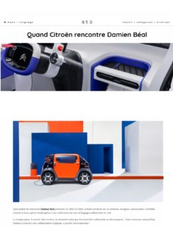Extrait de Blog Esprit Design - Article sur la collaboration avec Citroën pour Ami One Concept