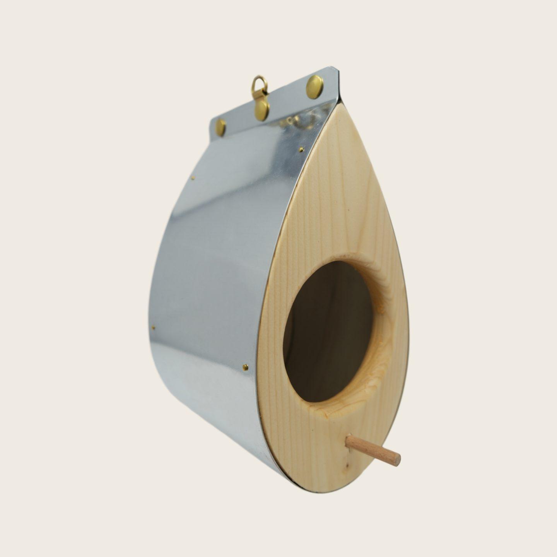 Mangeoire à oiseaux moderne en bois et zinc - La Mangeoire