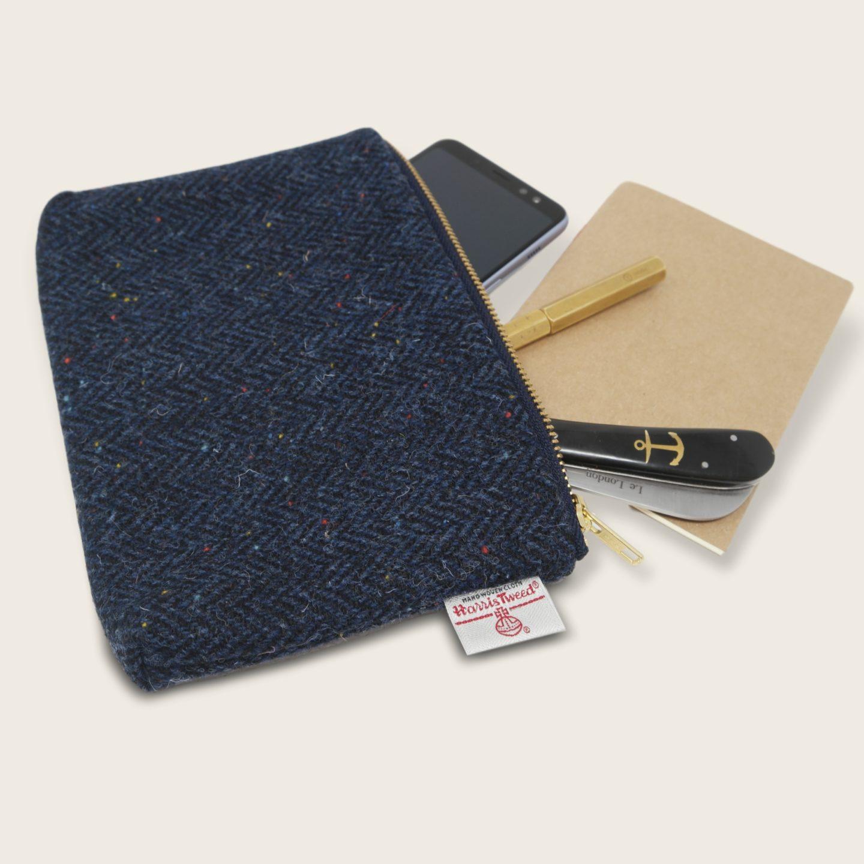 Poche originale en Harris Tweed, pure laine vierge