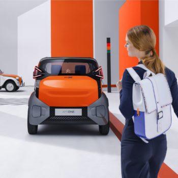 Sac à dos en et bois, collaboration Citroën pour Ami One Concept