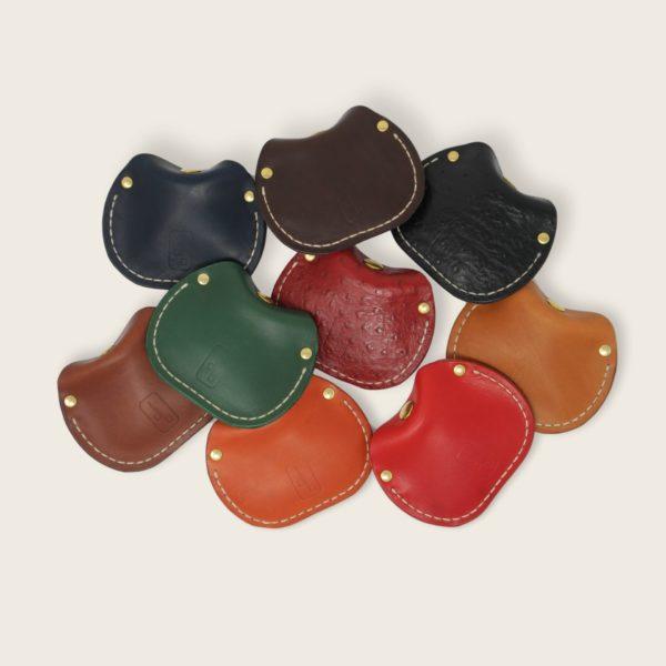 Porte-monnaie, bourse, en cuir naturel à tannage végétal, le Haricot
