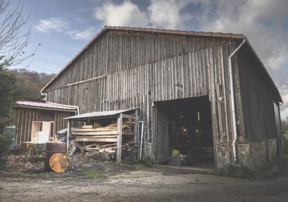 Atelier de menuiserie, grange, en Vallée de Chevreuse - Damien Béal