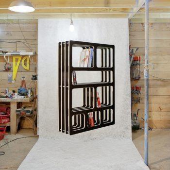 Bibliothèque moderne et épurée en bois - La Millefeuille